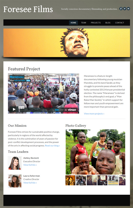 Foresee Films redesigned website